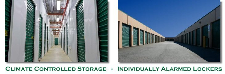 Self Storage Port Coquitlam Facility showing Climate Controlled Storage Lockers