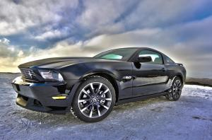 Ford Mustang in Winter