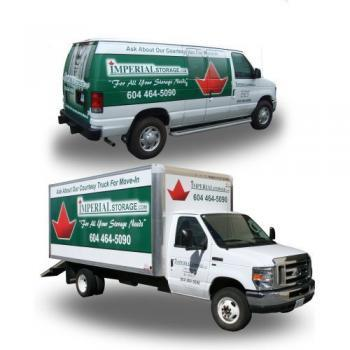 Free Use of our courtesy moving truck or van offered by Imperial Self Storage in Port Coquitlam British Columbia Canada