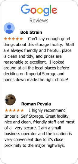 Google reviews for self storage facilities located in Port Coquitlam