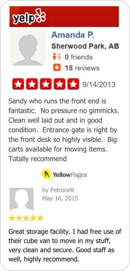 Self Storage customer reviews by Yelp and Yellow Pages within Port Coquitlam