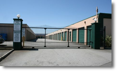 Imperial Self Storage Facility front security gate entrance in Port Coquitlam